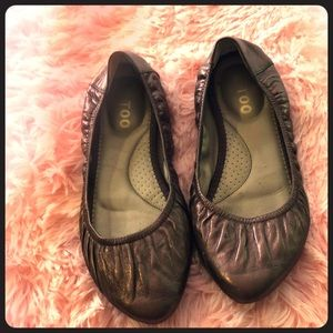 Me Too bronze leather, ballet flats-pointed toe 7